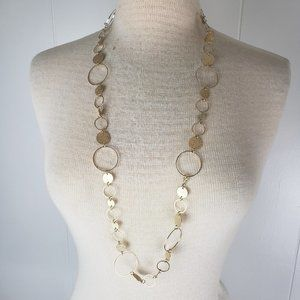 Jewelry - Gold Tone Large Link Chain Fashion Necklace